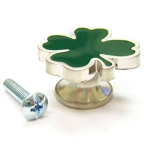 1 St Patrick Irish SHAMROCK 4 Leaf Clover Knob Drawer Pull New Longaberger