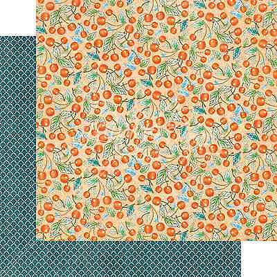 Cherry Scrapbooking Paper - Graphic45 CHERRY ON TOP 12x12 Dbl-Sided Scrapbooking (2PC) Papers