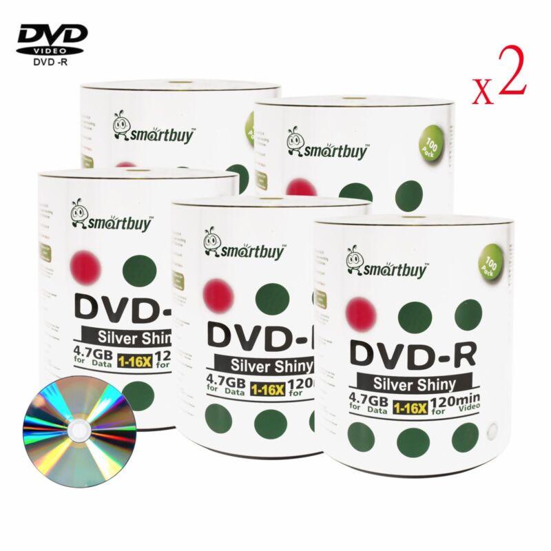 1000 Pack Grade A+ Smartbuy 16X DVD-R 4.7GB Shiny Silver Top Blank Record Disc