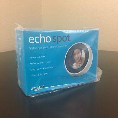 "Amazon Echo Spot Smart Speaker with 2.5"" Display & Alexa in White"