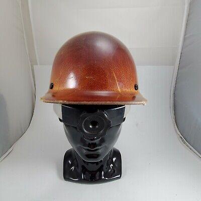 Msa Fiberglas Skullgard Fas-trac Ii Suspension Hard Hat Safety Helmet Sz Medium