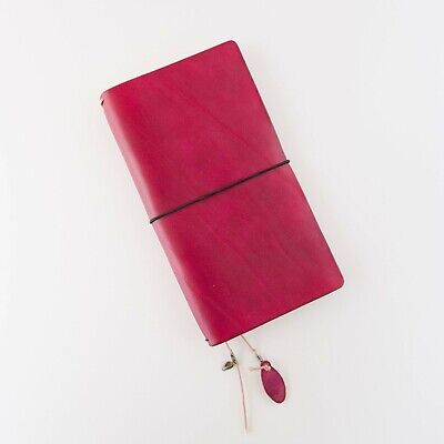 Traveler's Notebook Regular Size Leather Cover - Red - Falcon Travelers