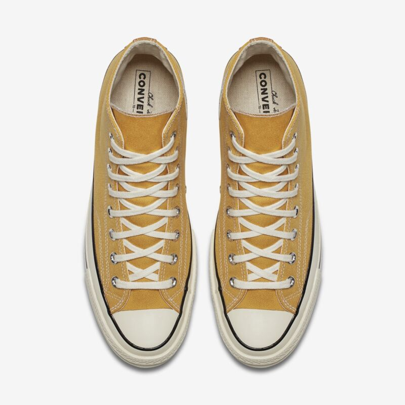 4f32a80a0c86 ... Converse Chuck Taylor All Star 70s High Sunflower Yellow Black Label  162054C
