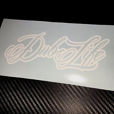 WHITE Dub Life Car Sticker Decal VDUB Beetle Bus Bug