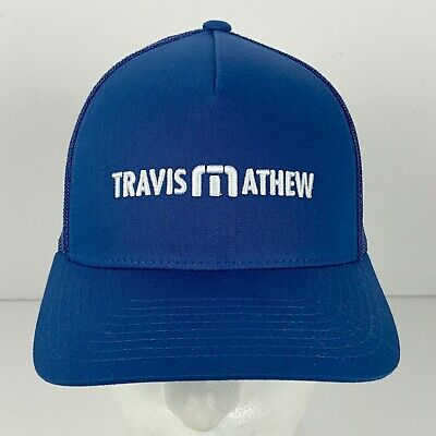 79b9e55d6fdde Travis Mathew Snapback Hat The Awesome Tour Golf Blue