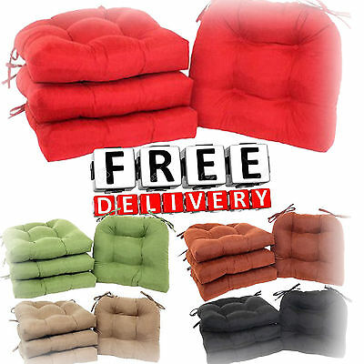 Patio Chair Cushion Set 4 Seat Pad Dining Garden Outdoor Furniture Kitchen Soft