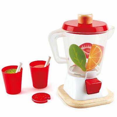 Hape Fruit Smoothie Blender Kids Wooden Pretend Kitchen Appliance Play Set Toy