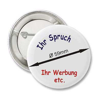 Ansteckbutton Button Buttons Pins inkl. Wunschmotiv Wunschtext Bild etc.Ø59mm