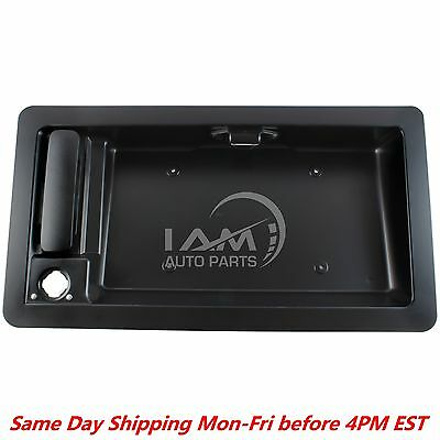 Rear Cargo Door Handle  License Plate Tag Bracket For Ford Van E150 E250 E350