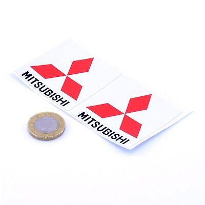 Mitsubishi STICKERS Badge Decal Vinyl Car 50mm x2 Race Racing Rally Lancer Evo