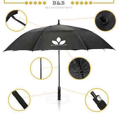 GolfUp | Fiberglas Regenschirm XXL 130cm groß Partnerschirm Golfschirm - 25%!