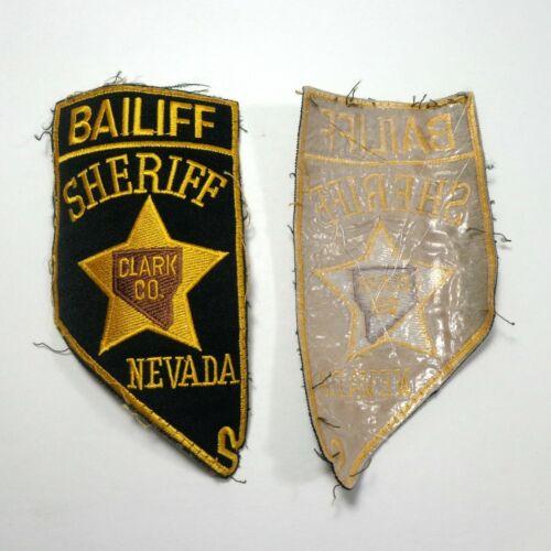 "Clark County Nevada NV Sheriff Bailiff 5.5"" Cutout Shape Patch Las Vegas Court"