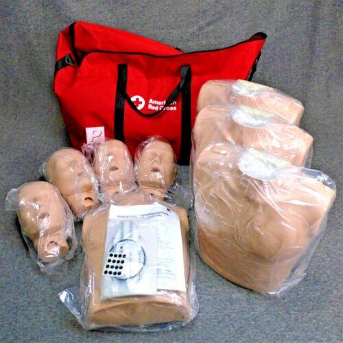 Prestan Professional CPR Adult Training 4 Pack Manikin Medical Set W/ Carry Bag
