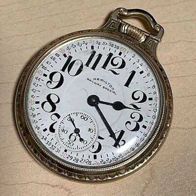 Hamilton Railway Special 10k Gold Filled Antique Railroad GF Pocket Watch