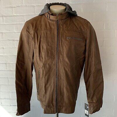 Buffalo Bitton Imitation Leather Jacket Coat Men's L for sale  Shipping to India