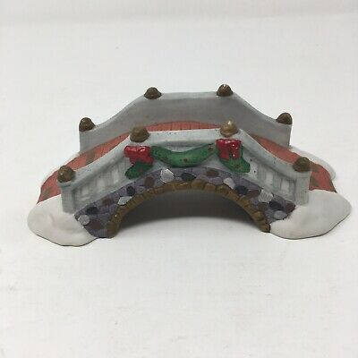 "6"" Ceramic Christmas Village Bridge or Train Set Bridge Holiday decor"