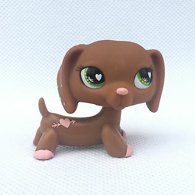 Littlest Pet Shop #556 LPS dog figure lps toys pink Dachshund no magnet