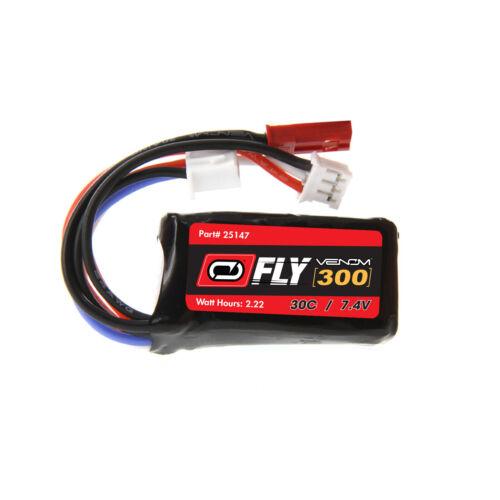 Venom Fly 30C 2S 300mAh 7.4V LiPo Battery with JST and E-