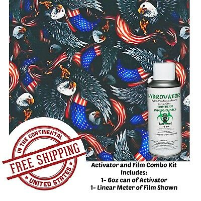 Hydrographic Film Water Transfer Hydro Dip 6oz. Activator American Eagle Kit