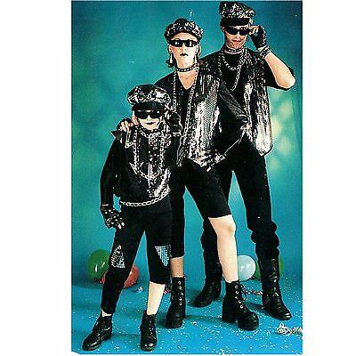 Power Flash 128-164 Kostüm Punk Punker Glam Rocker Gothic 2-tlg. - Gothic Rocker Kostüm