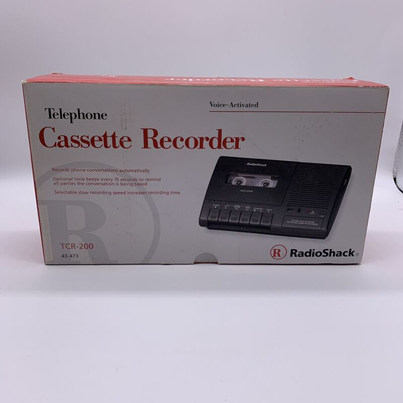 Radio Shack Telephone Voice-Activated Cassette Recorder TCR-200 w/ Power Adapter