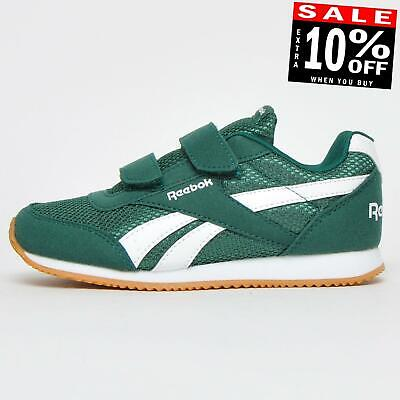 Reebok Royal Classic Jog 2 2V Childs Kids Casual Retro Trainers Green