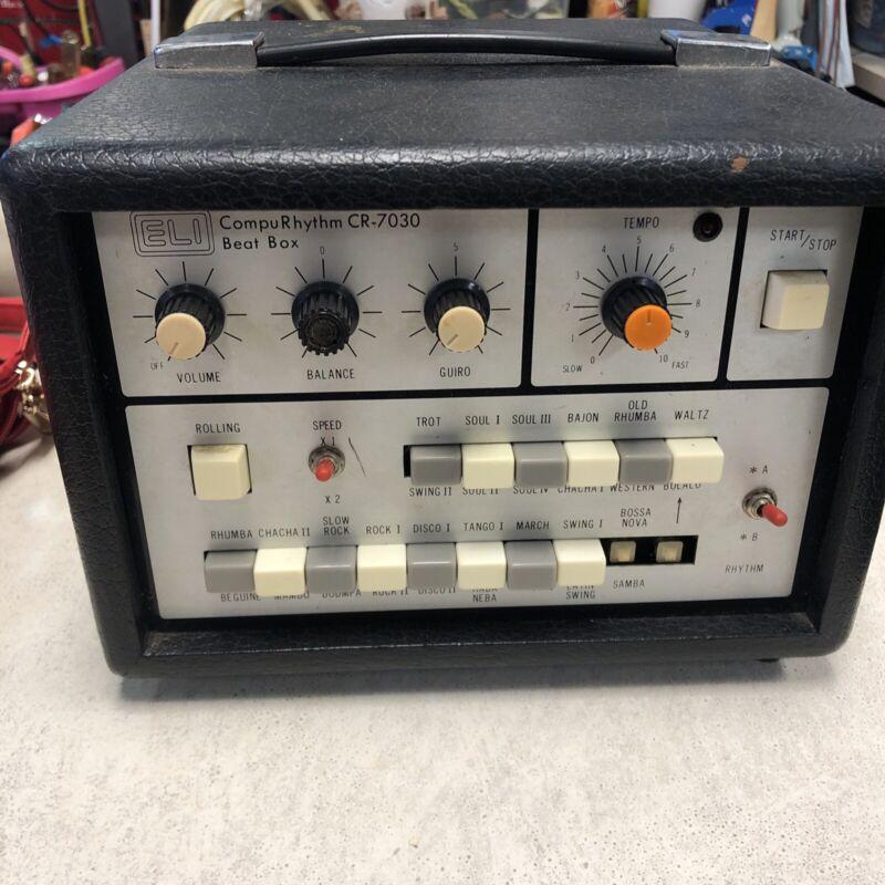 Vintage Eli CompuRhythm Beat Box CR-7030- Works