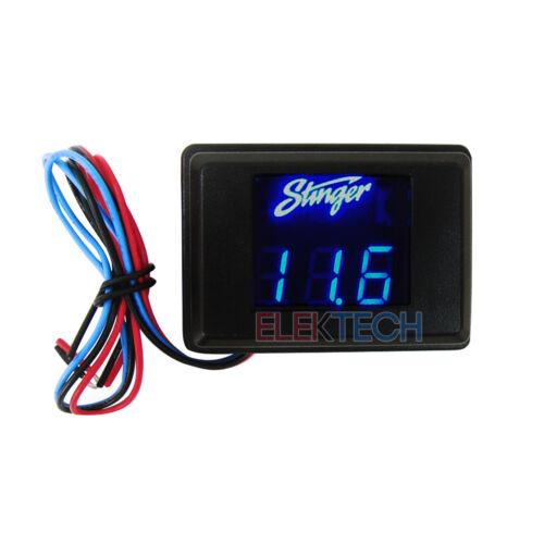 Stinger SVMB Voltmeter 3-Digit Blue LED Voltage Display Gauge Voltage Meter NEW