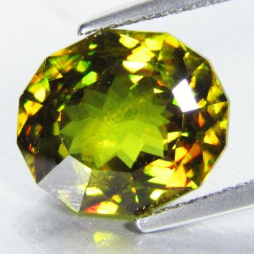 6.45Cts Natural Sparkling Oval Custom Cut Sphene Titanite Loose Gem Gem Ref VDO
