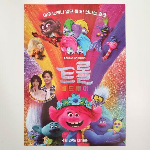 Trolls World Tour 2020 A4 Movie Flyer Mini Poster Korean Red Velvet Wendy