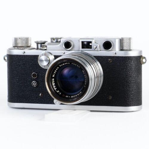 :Nicca Type III-S 35mm Film Rangefinder Camera w/ Nikkor HC 50mm f2 LTM Lens