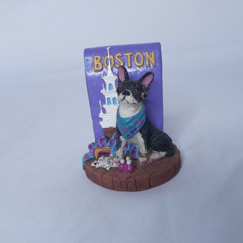 Boston Terrier Resin Figurine 2002 Icing by Claire