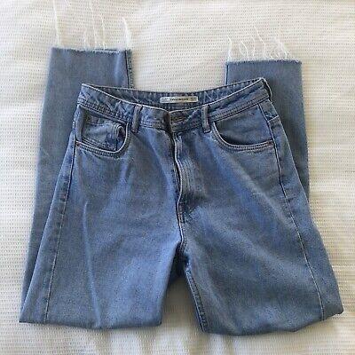 Zara Denim Straight Leg Mom Jeans Size 34 Or UK 6