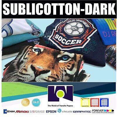 Sublicotton-dark Heat Transfer Paper 20 Sh 8.5x11 New
