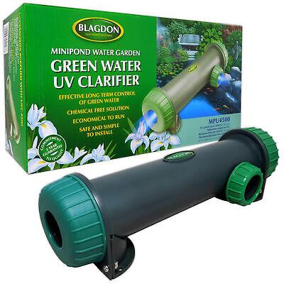 BLAGDON MINI UVC MPU 4500 LTRS CLARIFIER 5W FISH POND KOI GARDEN GREEN WATER