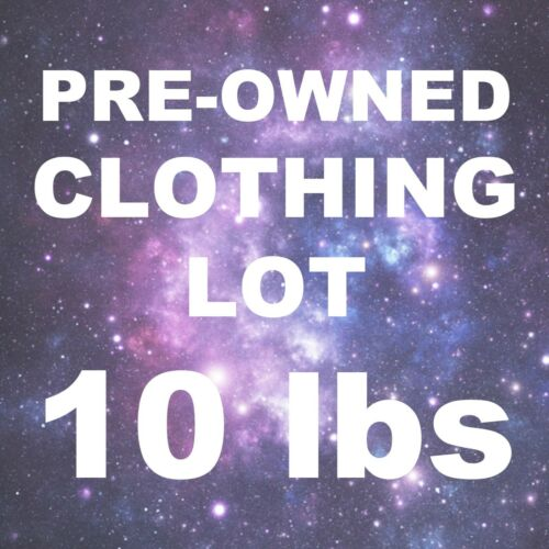 10 Pounds Wholesale Resale Lot PRE-OWNED and VINTAGE CLOTHING Don
