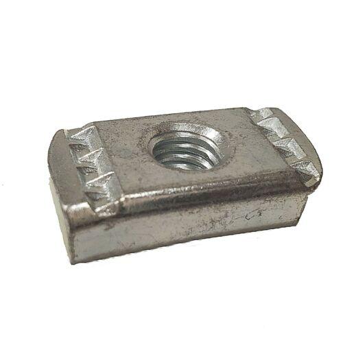 "(100) 3/8""-16 No Spring Strut Channel Nut Zinc Plated For Unistrut/B-Line P3008"