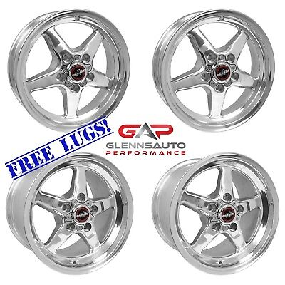 Race Star Drag Pack 15x10/15x3.75 for 93-02 Camaro (Polished) - 4 Wheel Combo