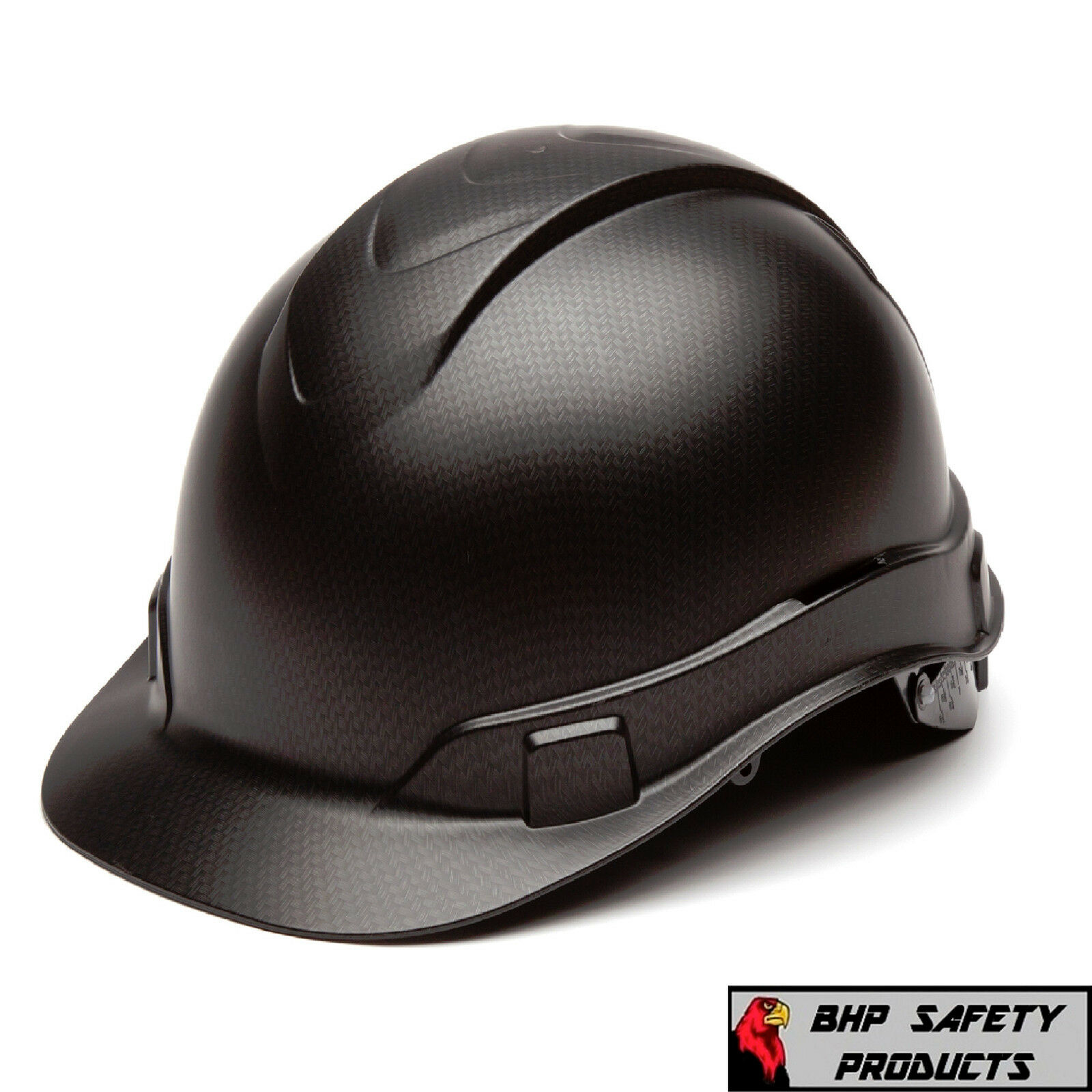 PYRAMEX RIDGELINE HARD HAT GRAPHITE PATTERN BLACK CAP STYLE CONSTRUCTION HP44117