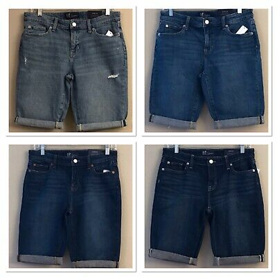 "NWT GAP 9"" Bermuda Denim Shorts Sz 2-4-6-8-10-12 Mid Rise Stretch"