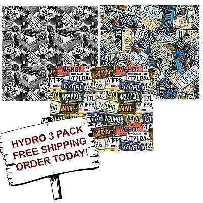 Hydrographic Film Water Transfer Printing Film Hydro Dip Highway Pack 3 Pack