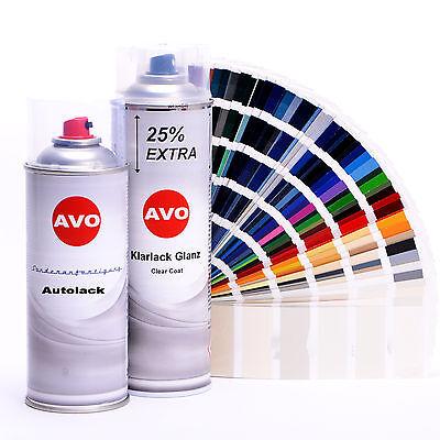 AVO Autolack Lackspray-Set für VW / Audi LC3M Memoryrot perl. A0010 - 3m Spray
