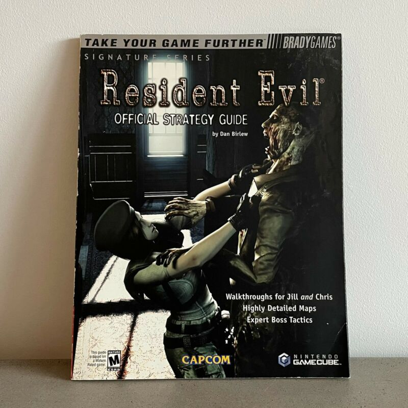 Resident Evil GREAT CONDITION Guide+Poster Official GameCube Guide