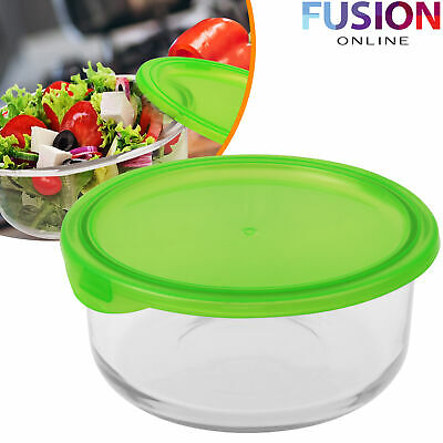 Glass Bowl Food Container Lunch Meal Prep Oven Microwave Freezer Safe Storage