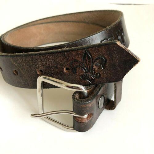 Boyscouts Belt Brass Buckle Pigott Leather Size 38 Made In USA