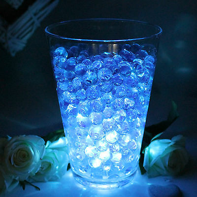 Wedding Table Decoration Top Table Centrepiece LED Light with Aqua Vase Crystals - Table Centerpieces With Lights