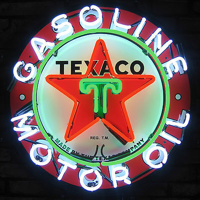 Texaco Motor Oil Neon Sign vintage style Gasoline sign Texaco Star real neon NIB