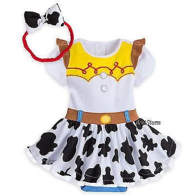 Disney Store Toy Story Jessie Baby Costume Dress & Headband 9-12 12-18 M NWT - Infant Jessie Toy Story Costume