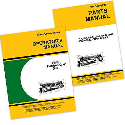 Operator Parts Manual For John Deere Fb168b Fertilizer Grain Drill Owner Catalog
