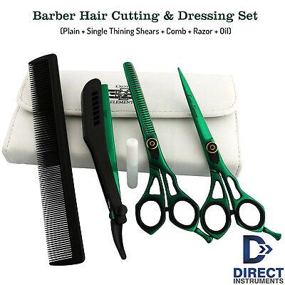 Salon Hair Cutting Thinning Scissor Barber Shears Hairdressing Set Shaving Razor for sale  Shipping to India